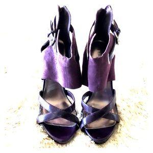 Purple Wide Ankle Strap Heel